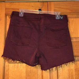American Eagle Outfitters Shorts - American Eagle High Rise Shortie Maroon Shorts